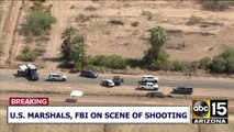 A wanted man was shot and killed by the US Marshals in the Salt River Indian Community Tuesday