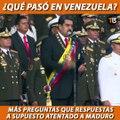 La escasa información ofrecida del supuesto atentado a Nicolás Maduro genera dudas sobre qué pasó realmente y quién está detrás de las explosiones del sábado