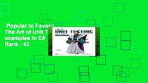 Popular to Favorit  The Art of Unit Testing: with examples in C#  Best Sellers Rank : #2
