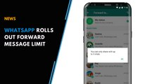 WhatsApp rolls out forward message limit, asks users to double check forward messages