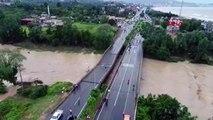 Sel felaketinin vurduğu Ordu'nun Ünye ilçesinden Drone görüntüleri