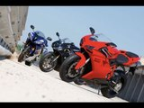 Ducati 848 Evo v Yamaha R6 v Daytona 675