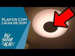 Plafon com Caixa de Som via Bluetooth - Luz, Decor & Ação!