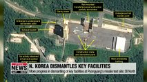More progress in dismantlement of key facilities at Pyongyang's missile test site: 38 North