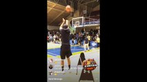 Dell Curry accepts the challenge & has shooting contest with Stephen Curry