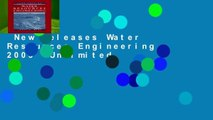 New Releases Water Resources Engineering 2005  Unlimited