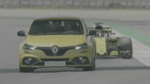 2018 New Renault MÉGANE R.S. TROPHY and the Renault R.S. 18 single-seater on the track