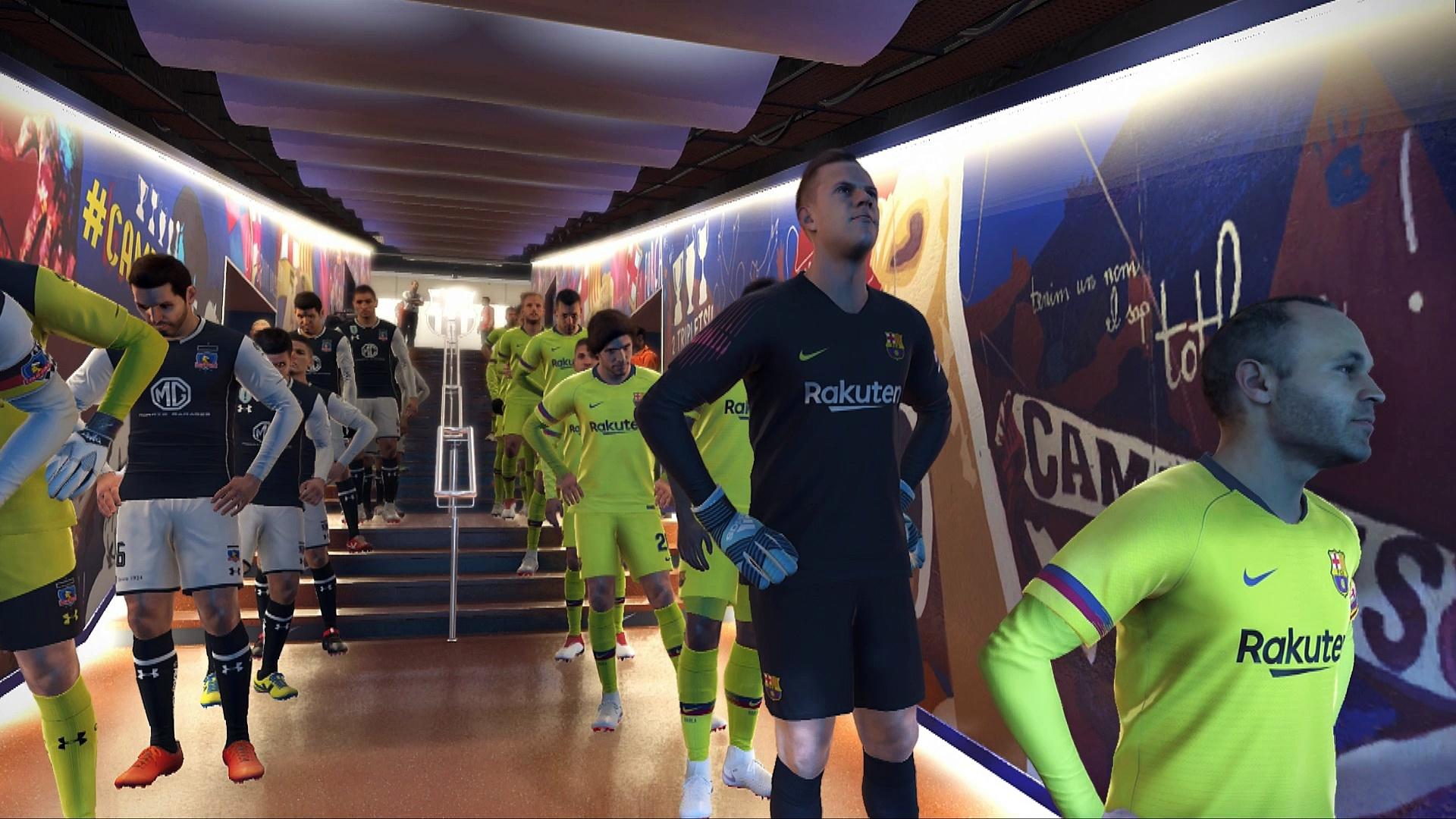PES 2019 PC Barcelona-Colo Colo demo