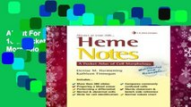 About For Books  Heme Notes 1e a Pocket Atlas of Cell Morphology  For Kindle