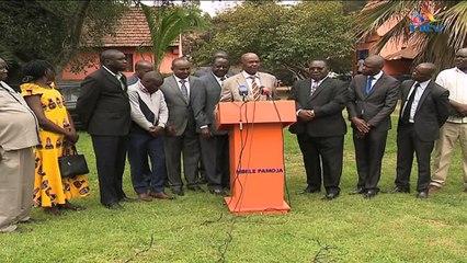 Opposition leader Raila Odinga on Migori senatorial  by-election