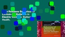 New Releases Behaviour of Lithium-Ion Batteries in Electric Vehicles: Battery Health,