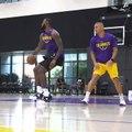 LA Lakers : les premières images de LeBron James à l'entraînement