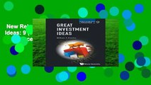 New Releases Great Investment Ideas: 9 (World Scientific Series in Finance)  Review