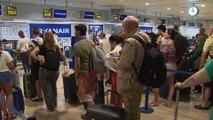 Normalidad en Madrid Barajas durante la huelga de pilotos de Ryanair