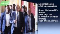 Ce qui est ressorti des discussions entre Souef et Le DrianLe ministre des affaires étrangères, Souef Mohamed El-Amine  a été reçu par le locataire du Quai d'