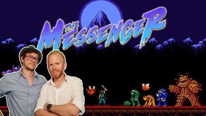 Thomas et Plume jouent à The Messenger, un jeu d'action Indé 2D à surveiller de près