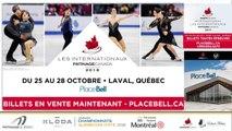Championnats québécois d'été 2018 Eve. 8 Pré-Novice Couple Prog. Libre + Eve. 9 Novice Couple prog. Libre + Eve 10 Pré-Novice Messieurs prog. Libre échauffement 1