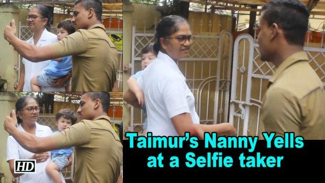 Nanny's Fury: Taimur's Nanny Yells at a Selfie taker