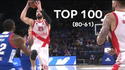 Top 100 Plays of the 2017-18 Turkish Airlines EuroLeague: 80 to 61