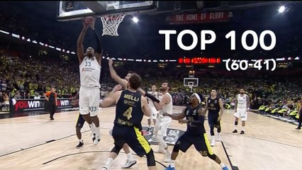 Top 100 Plays of the 2017-18 Turkish Airlines EuroLeague: 60 to 41