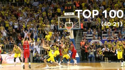 Top 100 Plays of the 2017-18 Turkish Airlines EuroLeague: 40 to 21
