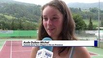 Alpes de Haute-Provence : A l'open Tennis de Barcelonnette, une jeune joueuse évoque son entrée en compétition