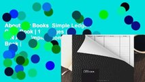 About For Books  Simple Ledger: Cash Book | 110 pages | DIN A5 | Simple Income Expense Book |