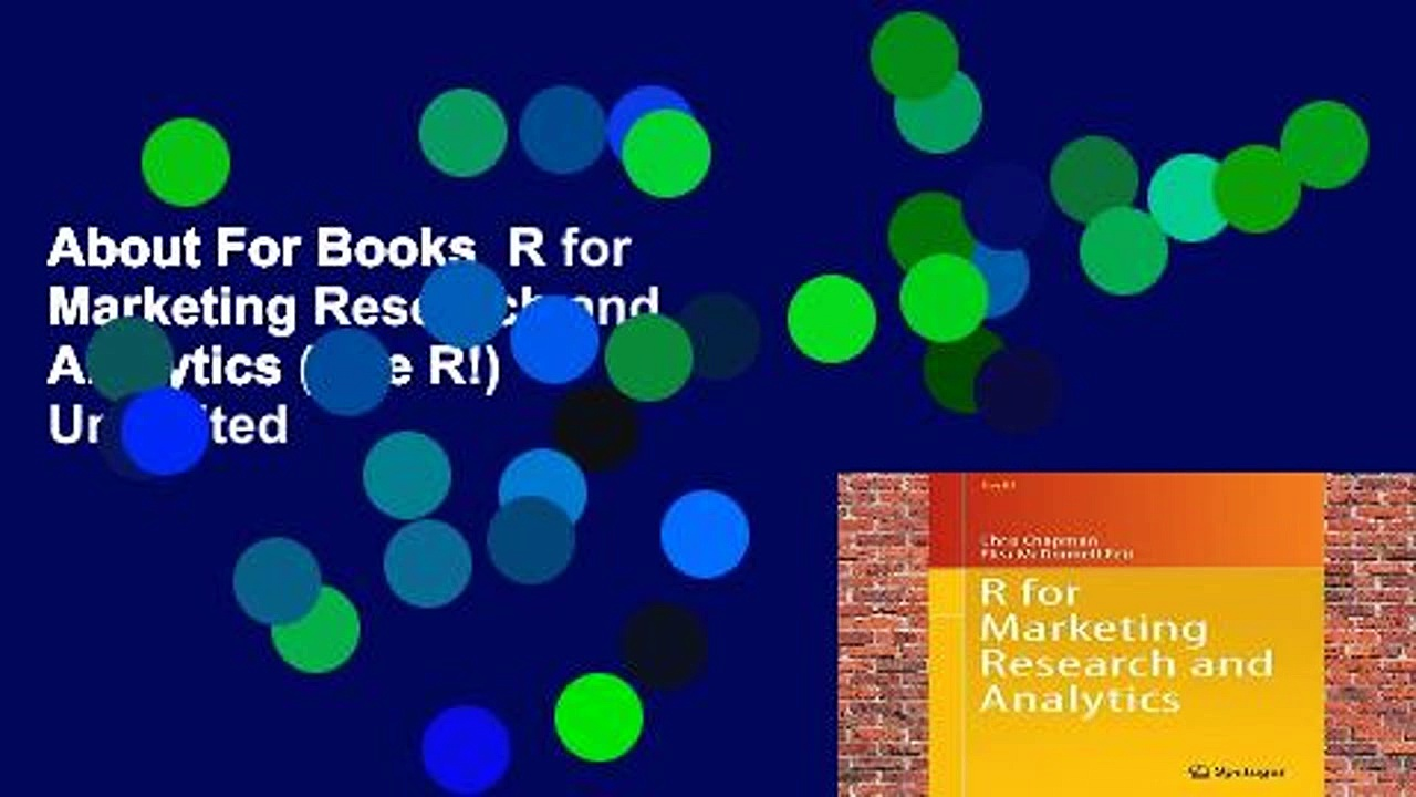 About For Books  R for Marketing Research and Analytics (Use R!)  Unlimited