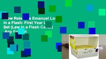 New Releases Emanuel Law in a Flash: First Year Law Set (Law in a Flash Cards)  Any Format