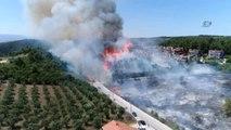 Bursa'da Orman Yangını...alev Alev Yanan Orman Havadan Görüntülendi