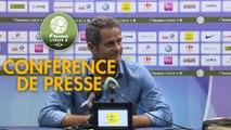 Conférence de presse Grenoble Foot 38 - Chamois Niortais (1-0) : Philippe  HINSCHBERGER (GF38) - Patrice LAIR (CNFC) - 2018/2019