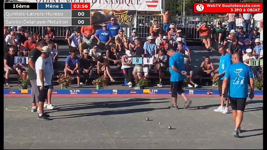 National d'Objat 2018 à pétanque : 16ème Quintais VS Salvini