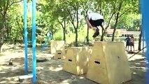 Jump  If you want to gain Spiderman skills you can do it with  #parkour & Jovan#parkourlife #jump #tvojastvar #cockta