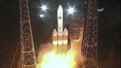 Launch of Delta IV Heavy with Third Stage & NASA's Parker Solar Probe