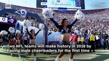 First male cheerleaders ready for NFL season