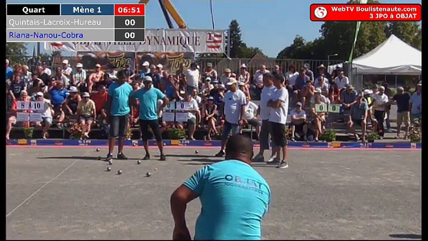 National d'Objat 2018 à pétanque : Quart Quintais VS Madagascar
