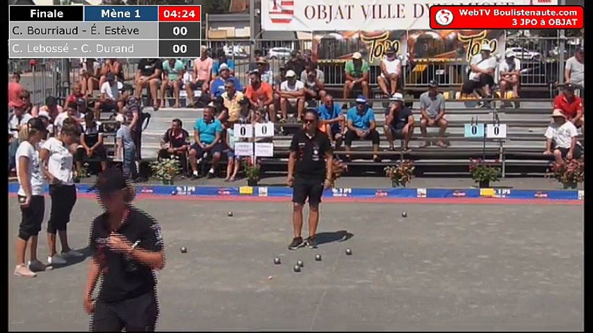 National d'Objat féminin 2018 à pétanque : Finale Bourriaud VS Lebossé