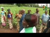 RTB/Visite du ministre de l'agriculture et des aménagements hydrauliques Jacob Ouedraogo dans les hauts bassins pour s'enquérir de l'état des cultures