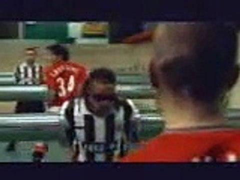 Pubblicità Pepsi Manchester Utd vs Juventus Calcio balilla davids beckham rampul