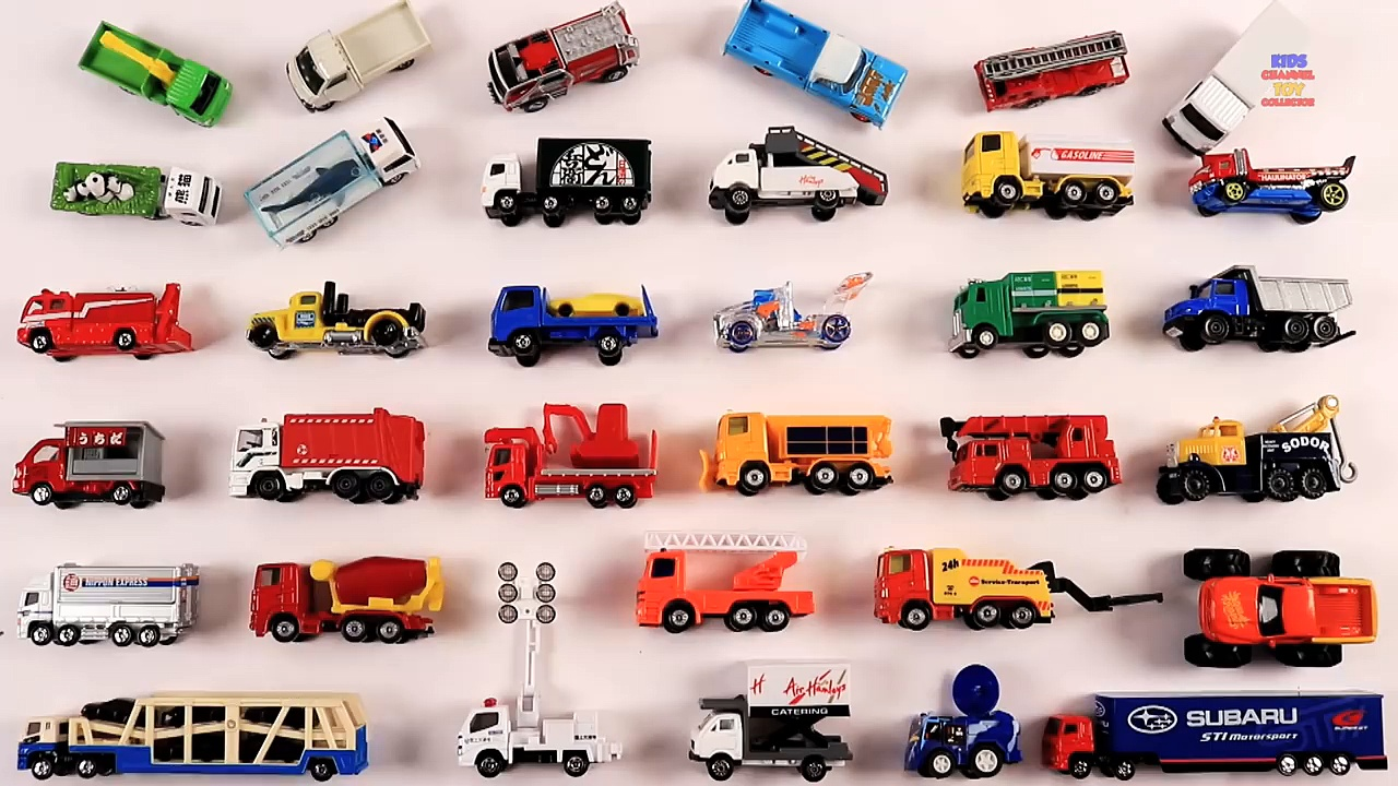 Learn Trucks for Kids Children Toddlers | Kids Trucks | Dump truck, Garbage truck, Race Truck,