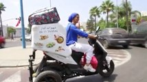 Moroccan mom starts a street food business on her bike
