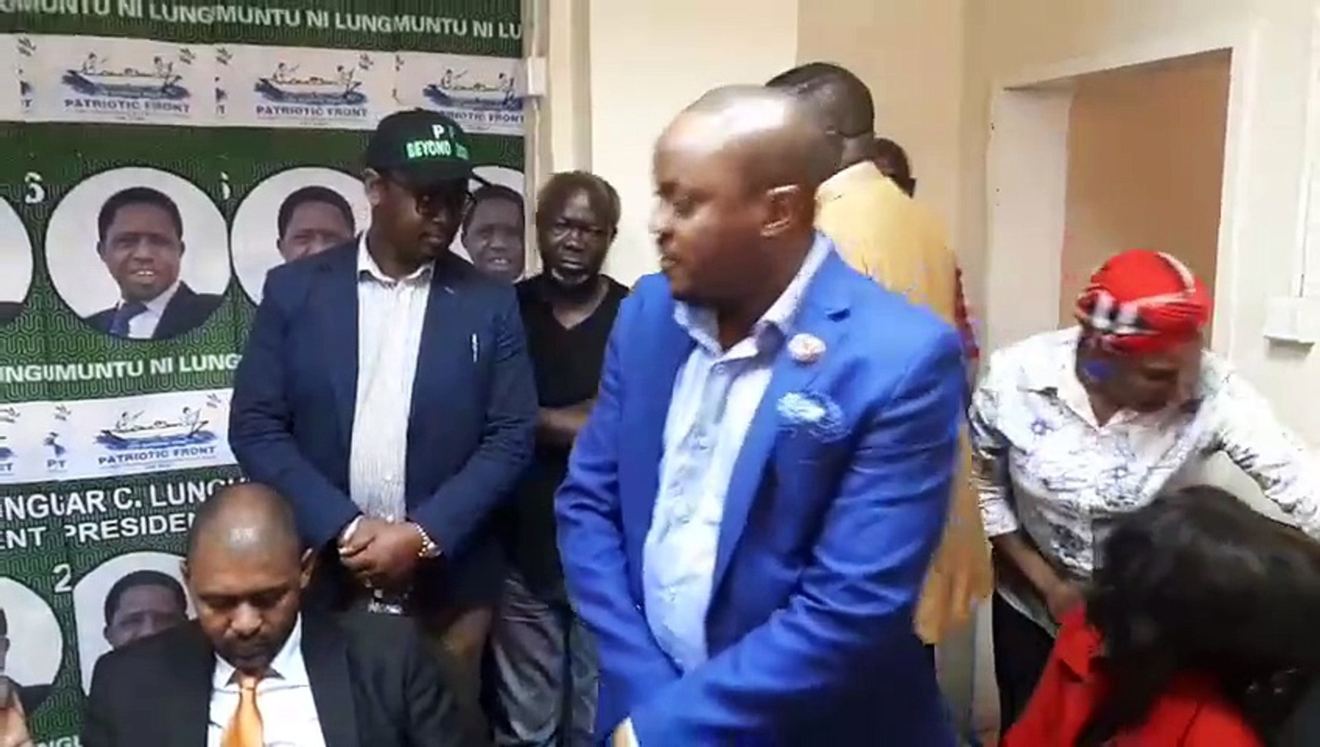 RULING PATRIOTIC FRONT (PF) PARTY SECRETARY GENERAL ADDRESSES THE MEDIA.We are streaming live from t