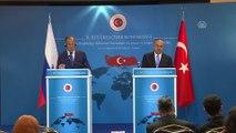 Çavuşoğlu-Lavrov ortak basın toplantısı - Rusya Dışişleri Bakanı Lavrov (2) - ANKARA