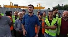 İNŞAAT İŞÇİSİ KURBANLIK KOYUN DEĞİLDİR! - - İnşaat ve Yapı İşçileri Sendikası Genel Başkanı Ali Öztutan Bayburt firmasının Ataköy- İkitelli metro şan