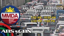 News Patrol: Dry run ng ban sa single-passenger cars sa EDSA tuwing rush hours, simula na bukas | August 14, 2018