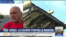 """""""On est à 200km, j'ai pas pu résister, je me suis mis en repos et je suis venu"""", ce Français vient en aide aux secours à Gênes"""
