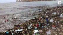 Des tones de déchets se déversent sur les plages du Mexique. Pollution incroyable