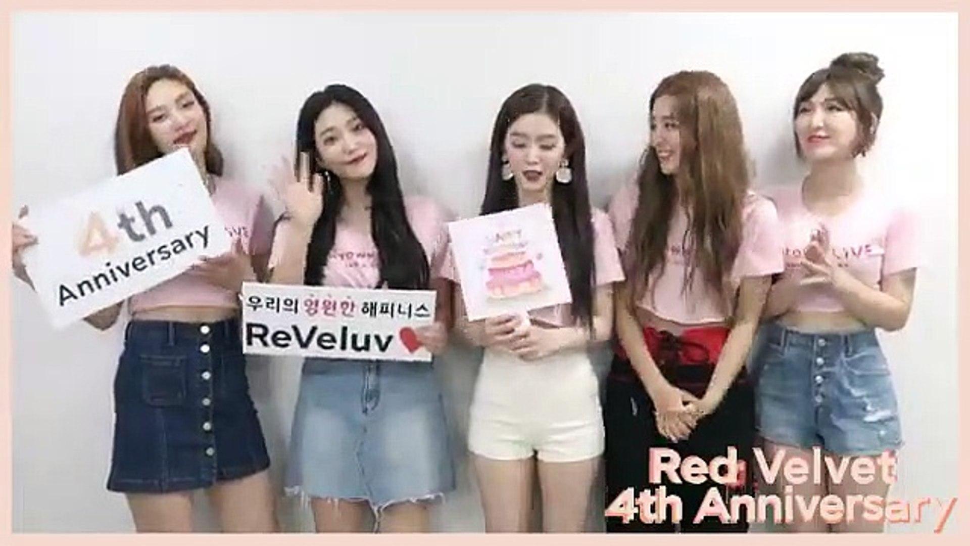 Red Velvet 4th Anniversary Greetings