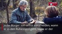 Der frühere CDU-Arbeitsminister Norbert Blüm regt sich auf. In einem Interview verlangt er die Abschaffung eines festen Renteneintrittsalters.