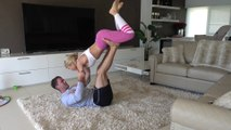 Young and Sexy Couple Incredible Work out Motivation And Romance at home Couples work out 2018